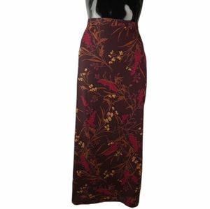 Gorgeous Classy Lady Long Floral Skirt
